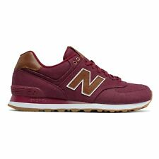 New Balance 574 Classic Traditionnels Red Men's Low Top Trainers