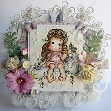 Magnolia Tilda Card ~NEW~ 'SpringtimeTilda' ~ Handmade and  Boxed  by Chris x
