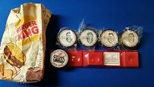 Detroit Red Wings 70th Anniversary Hockey Puck Complete SET - Burger King 1996