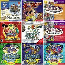 Age 8+ 4th Fourth Grade Learning Games PC Windows XP Vista 7 8 10 Sealed New