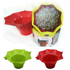 New DIY Silicone Microwave Popcorn Easy Maker Safe Bucket Pop Corn Bowl Pot