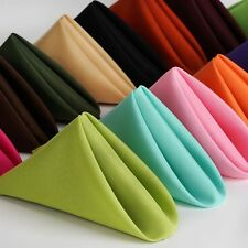 25/PK 17x17 inch Polyester Napkins  ~NEW~ Wedding Holiday Party 15+ Colors