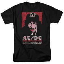 ACDC AC DC HIGH VOLTAGE CONCERT TOUR LIVE 1975 Licensed Adult T-Shirt All Sizes