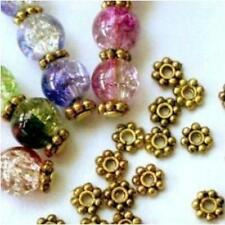 Wholesale Tibetan Antique Gold Daisy Flower Shaped Spacer Beads Jewelry 4/6MM