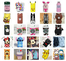 3D Cartoon Design For Huawei Series Rubber Silicone Soft Phone Back Case Cover