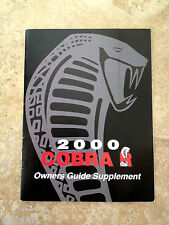 2000 Mustang SVT Cobra R Factory Original Supplement Manual in Mint Condition