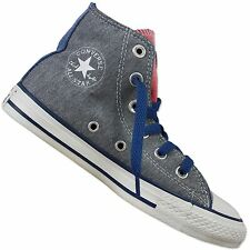 CONVERSE ALL STAR CHUCK TAYLOR CT Side Zip Hi Childrens Shoes Peacock Grey Rosa