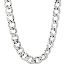 7mm Durable Solid Stainless Steel Cuban Curb Link Chain Necklace