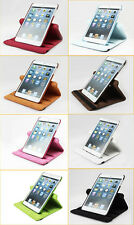 New Litchi Grain PU Leather 360 Degree Rotary Stand Case for iPad Mini With Film