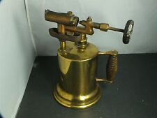"""Antique Brass Torch and Iron Torch 10"""" Inch Height"""