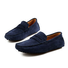 2017 Mens Genuine Leather Casual Slip On Loafer Shoes Moccasins Driving Shoes