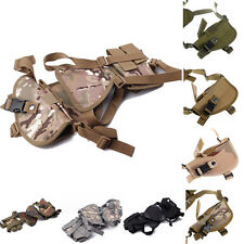 Tactical Horizontal Shoulder Pistol Handgun Holster with Double Mag Pouch