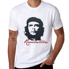 2017 New Che Guevara Revolution White T-shirts Soft Mens Short Sleeve Top Tee