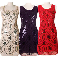 Women Sequins Bodycon Cocktail Bandage Club Evening Party Cocktail Short Dresses
