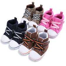 Toddler Newborn Baby Boys Girl Crib Shoes Soft Sole Sneakers Anti-slip Trainers