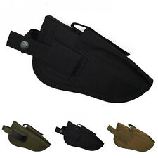 Waterproof Tactical Military Hand Gun Pouch Pistol Holster Mag Slot Holder Black
