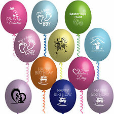 Easter Valentine's New Home Birthday Congrats Party Printed Latex Balloons