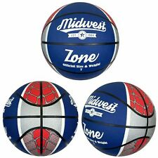 Midwest Red White & Blue Zone Basketball Indoor & Outdoor Ball Size 5, 7