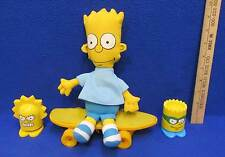 The Simpsons Bart Doll Skateboard & Burger King Bart and Lisa Pop Up Figures