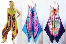 Hippie Bohemian Gypsy Festival Baggy Harem Spiral Tie Dye Jumpsuit Overalls