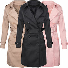 Trench Coat Ladies Designer Jacket Between-seasons Vintage D-312 S-XL