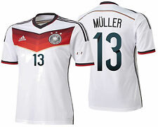 ADIDAS MULLER GERMANY AUTHENTIC ADIZERO HOME JERSEY FIFA WORLD CUP BRAZIL 2014