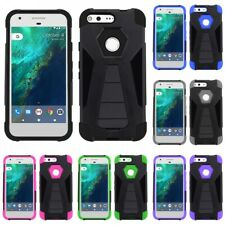 DUAL LAYER THIN HYBRID SLIM GRIP HARD SOFT CASE KICKSTAND COVER FOR SMARTPHONES