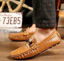 NEW Casual Mens Metal Buckle Moccasins Slip On Driving Shoes Dress Loafers