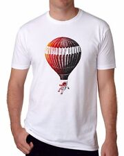 2017 New Fashion Astronaut White T-shirts Soft Mens Short Sleeve Casual top Tee