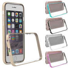 Hybrid Metal Bumper Frame Case Cover TPU Hard Back Cover for iPhone 6/6s Plus