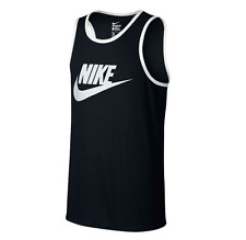 New** Nike Mens Ace Logo Tank Top Black/White All Sizes 779234-011 NEW WITH TAGS