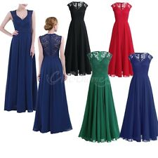 Formal Long Women Lace Dress Prom Evening Party Cocktail Bridesmaid Wedding Gown