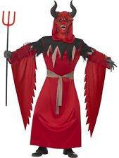 Mens Adult Demon Devil Lord Halloween Horror Lucifer Satan Fancy Dress Costume
