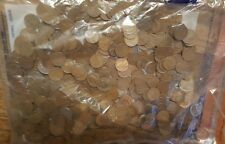 1000 Wheat Pennies Sealed Bank Security Bag Unsearched Wheat Cents & Silver #22