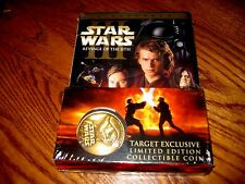 Star Wars Episode III- Revenge of the Sith Target Exclusive w/Limited Coin DVD's