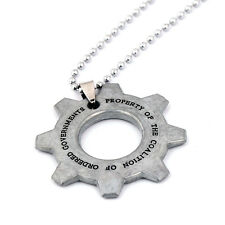 Gears of War Cog Tag Chain Necklace Keychain Key Ring Pendant  Game Collect Gift