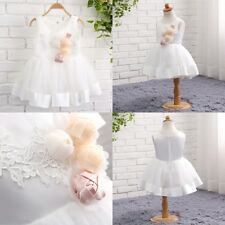 White/Ivory Flower Girls Dress Bridesmaid Prom Dresses Pageant Formal Party Gown