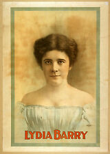 Photo Print Vintage Poster: Theatre Flyer 1800s People Stars Lydia Barry 01