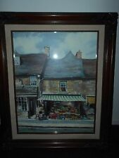 MARTY BELL 1986 'BURFORD VILLAGE STORE'   SIGNED..352/550 ..COA ALSO SIGNED