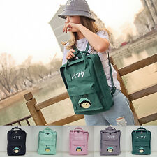 Womens Girls Carton Canvas Shoulder School Bag Travel Rucksack Backpack Handbag