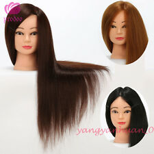 Hairdressing Salon Practice Training Mannequin Heads Synthetic Animal Mixed Hair