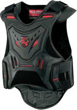 Icon Mens Black/Red Field Armor Stryker Motorcycle Armored Vest