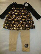 DISNEY MINNIE MOUSE 2 piece set LEGGINGS & SHIRT NWTS GORGEOUS HOLIDAY SET
