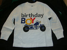 "OLD NAVY ""BIRTHDAY BOY"" long sleeved tee shirt  NWTS"