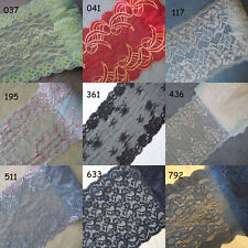 9 Patterns Stretch Floral Lace Red, Black, Green, Grey, White, Blue Grey, zh11