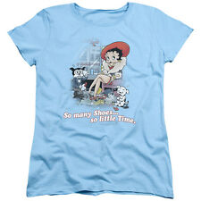 Betty Boop SO MANY SHOES, So Little Time Licensed Women's T-Shirt All Sizes