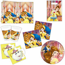 Disney Princess Beauty And The Beast Children's Birthday Party Tableware Listing