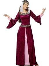 Adult Deluxe Medieval Lady Maiden Maid Marion (Robin Hood) Fancy Dress Costume