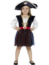 Deluxe Glitter Pirate Girl Fancy Dress Costume