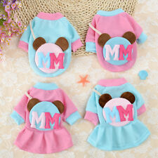 Pet Dog Clothes Vest Dress Small Medium Bear Apparel Poodle Yorkie Shirt Costume